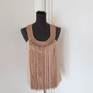BEBE crochet embroidery  tank top blouse  XS